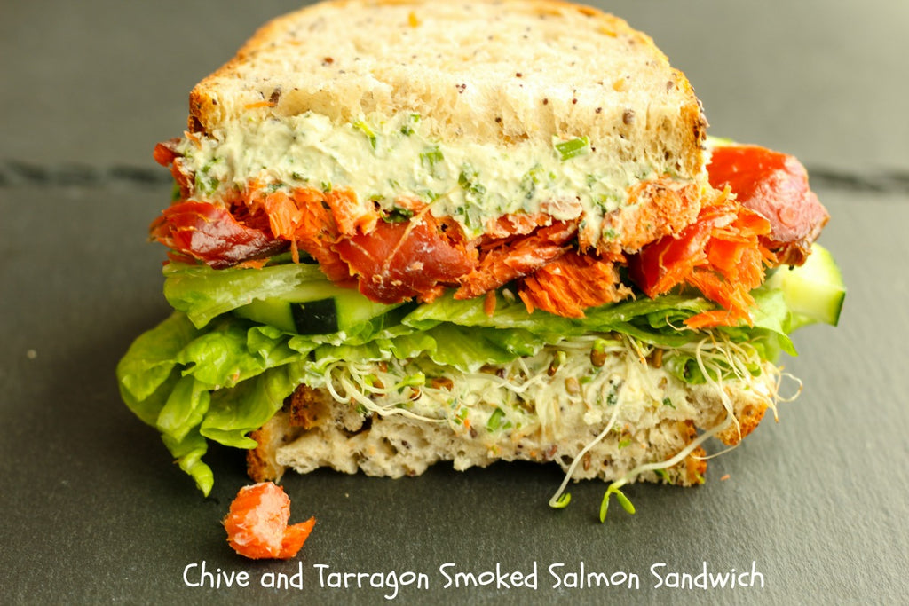 Chive and Tarragon Smoked Salmon Sandwich