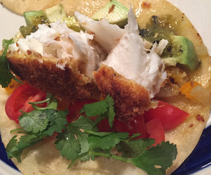 Pan Seared Panko Halibut Tacos
