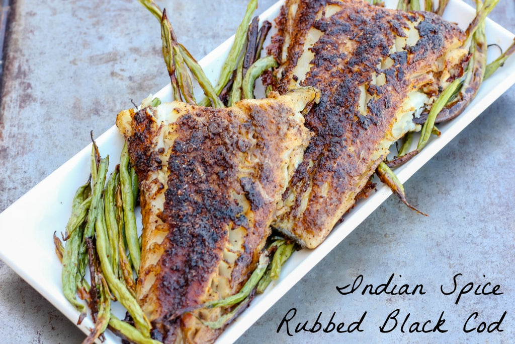 Indian Spice Rubbed Black Cod