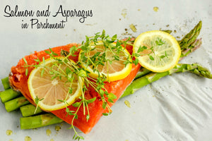 Salmon and Asparagus in Parchment