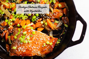 Sockeye Salmon Teriyaki with Vegetables