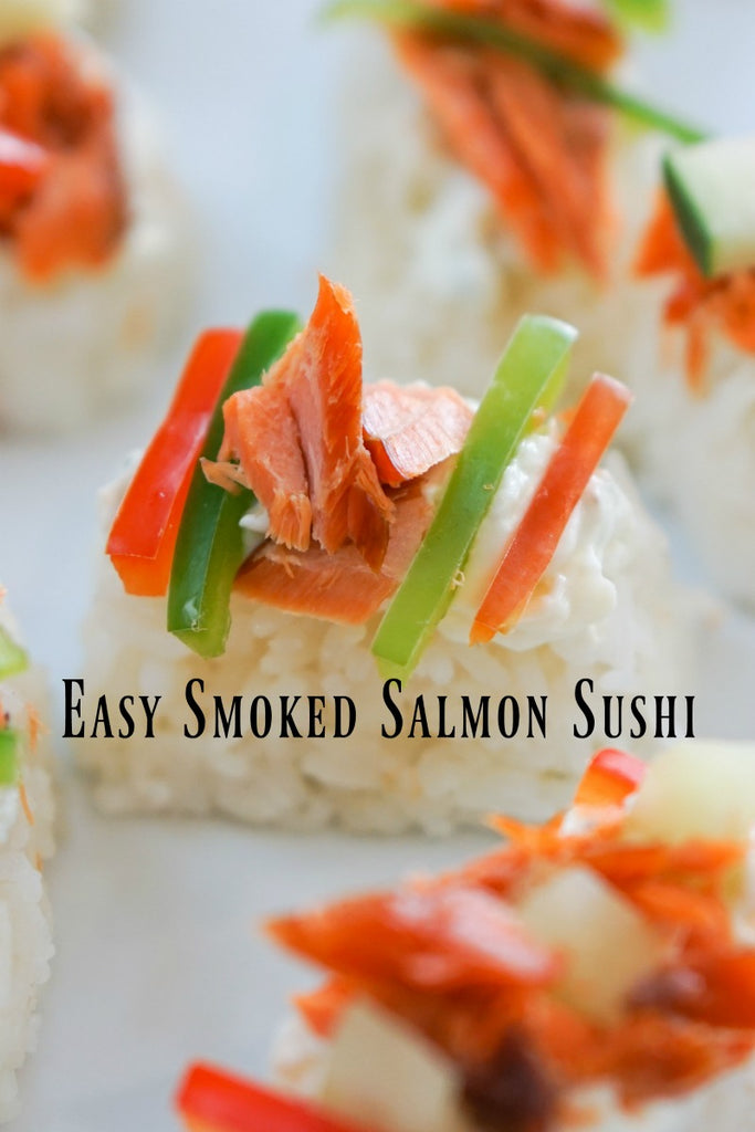 Easy Smoked Salmon Sushi is a quick and easy way to jazz up any gathering with a sushi inspired appetizer.