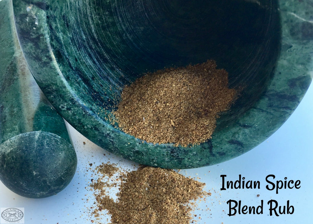 Indian Spice Blend Rub ~ Aromatic blend of traditionally used herbs and spices roasted and ground giving your fish that exotic taste you crave from a local restaurant but can be easily made at home.
