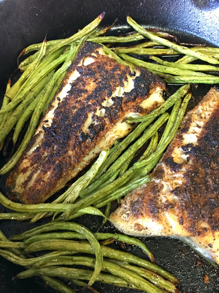 Indian Spice Rubbed Black Cod ~ Black Cod rubbed with an aromatic blend of warm Indian spices, pan seared, and finished off in a hot oven for an exotic tasting yet easy meal.