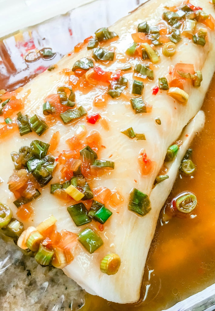 Orange Ginger Soy Black Cod ~ Sweet, salty, and spicy, the trifecta of taste all on delicious tender and buttery portion of black cod.