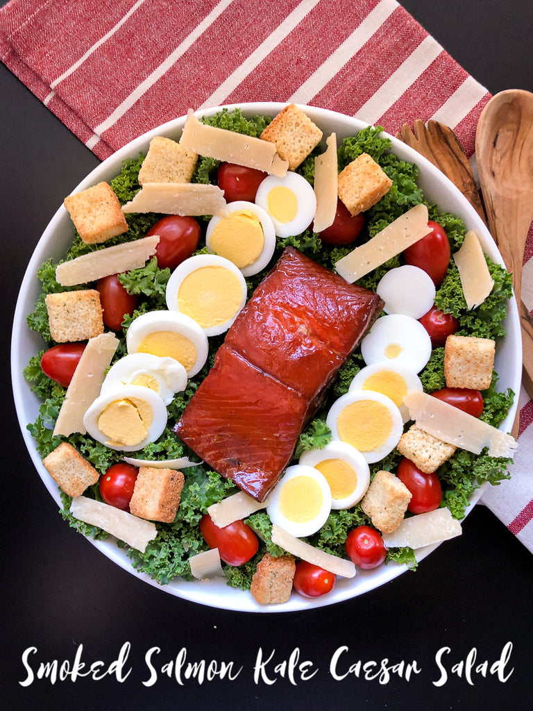 Smoked Salmon Kale Caesar Salad is a simple lunch or dinner idea with little prep but will leave you satisfied.