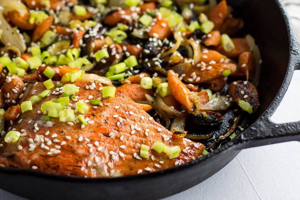 Sockeye Salmon Teriyaki and Vegetables is a rich and robust entree that is easily prepared, delicious, and healthy.