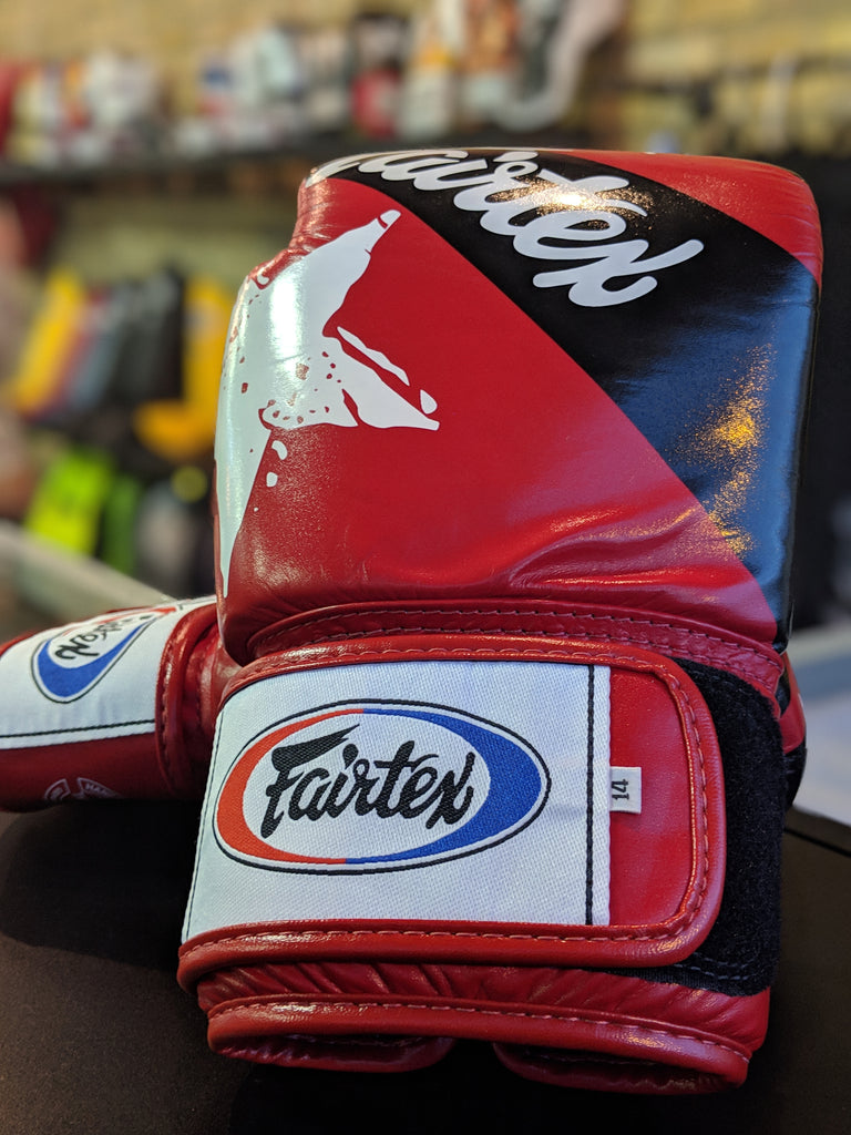 Fairtex Nation Print Boxing Gloves. Limited Edition