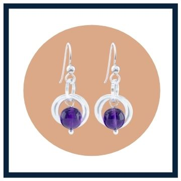 Gift for her Amethyst Gemstone Jewelry