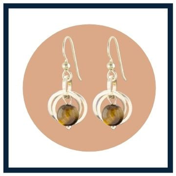 Gift for her Tiger Eye Gemstone Jewelry