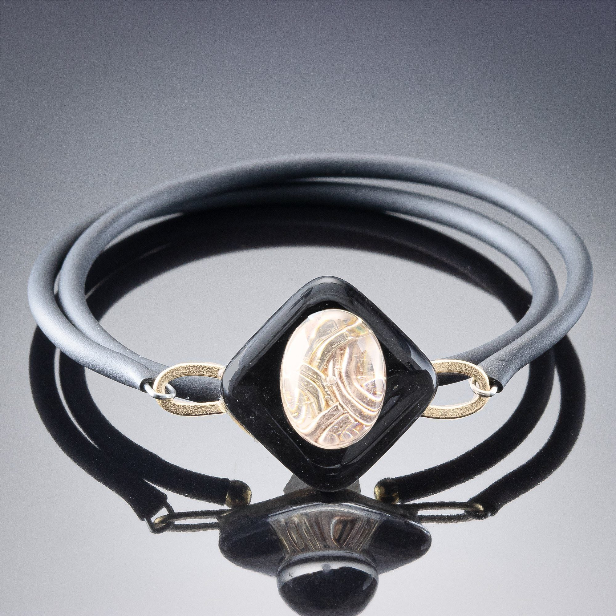 Handmade Wrap Bracelet by Tahmi - A handmade jewelry from women metal and glass using 14k gold filled or agentium .925 sterling silver. A classic minimalist jewelry design that is handcrafted one piece at a time. Perfect for everyday wear.