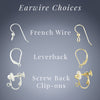 Tahmi Handmade Earrings Earwire Choices