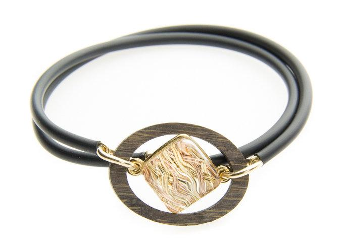 5 Elements: Wrap Bracelet in Silver and Gold Mix