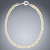 Handwoven Two Tone Chunky Byzantine Necklace in a Mix of Sterling Silver and 14K Yellow Gold Fill