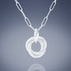Dainty Love Knot Pendant Necklace in Silver