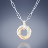 Dainty Round Love Knot Pendant Necklace - available in Gold, Silver and Mixed Metal