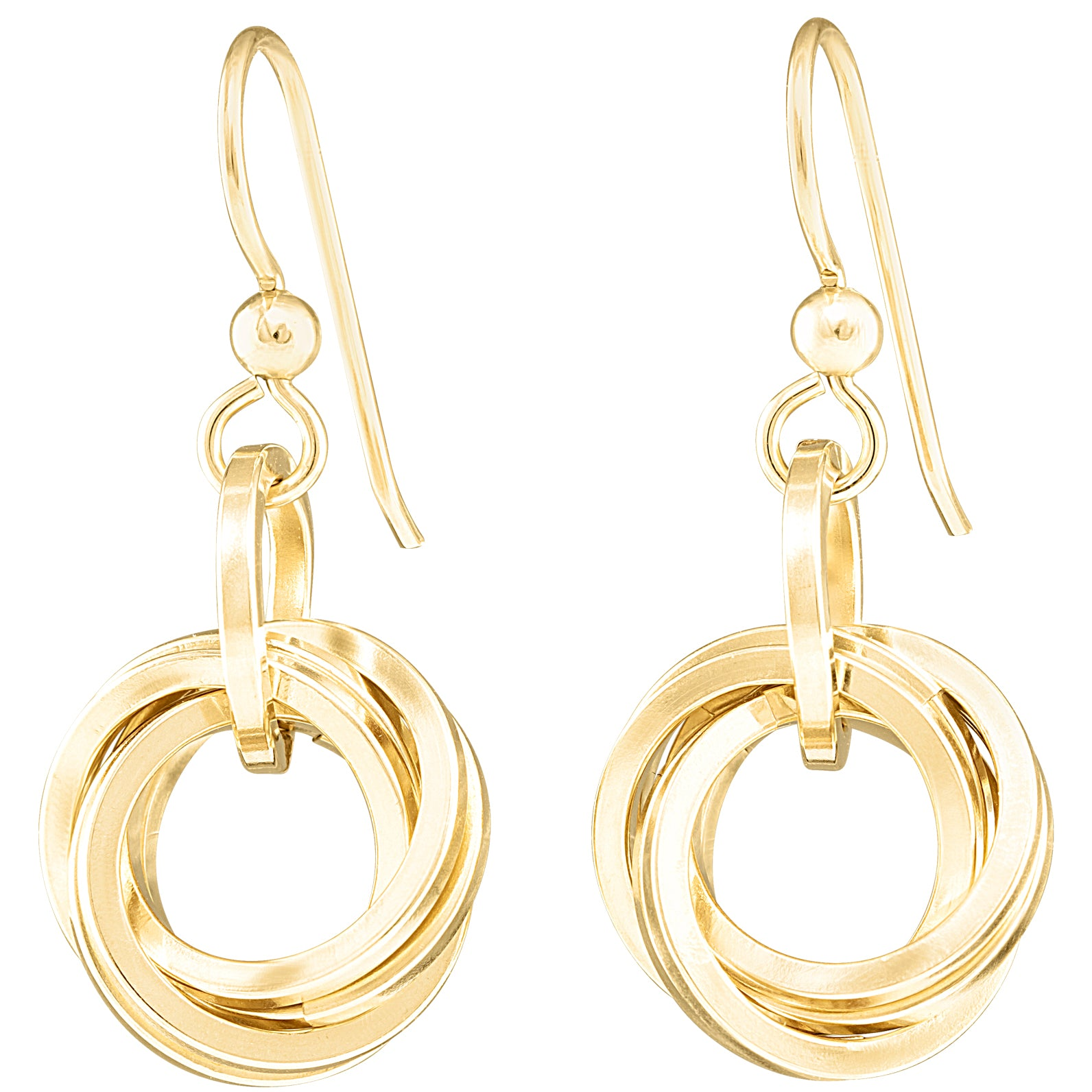 "AS SEEN IN the Lifetime Movie ""The Christmas Edition""- Classic Love Knot Dangle Earrings in 14K Yellow Gold Fill"