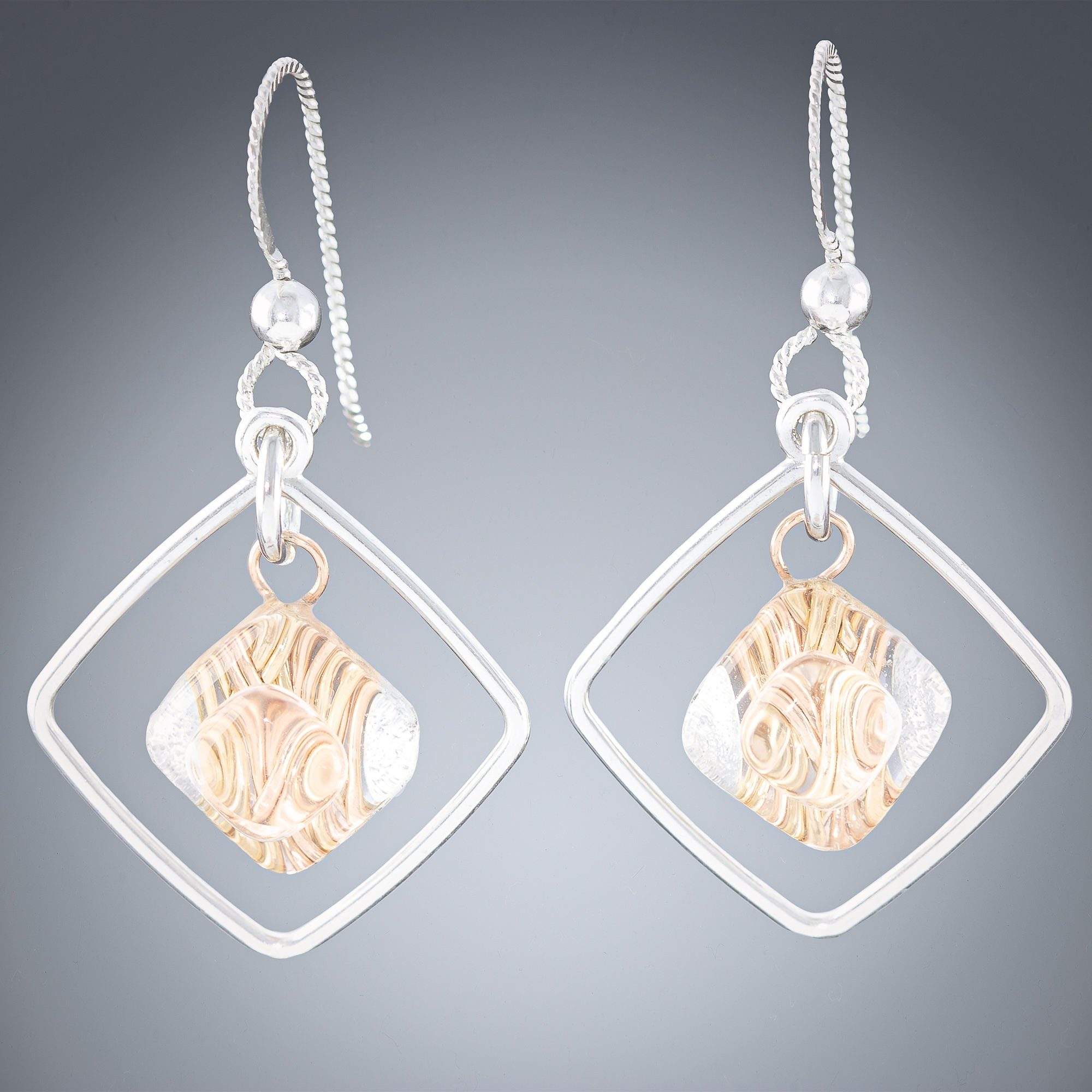 Woven Allure Diamond Earrings - Tahmi