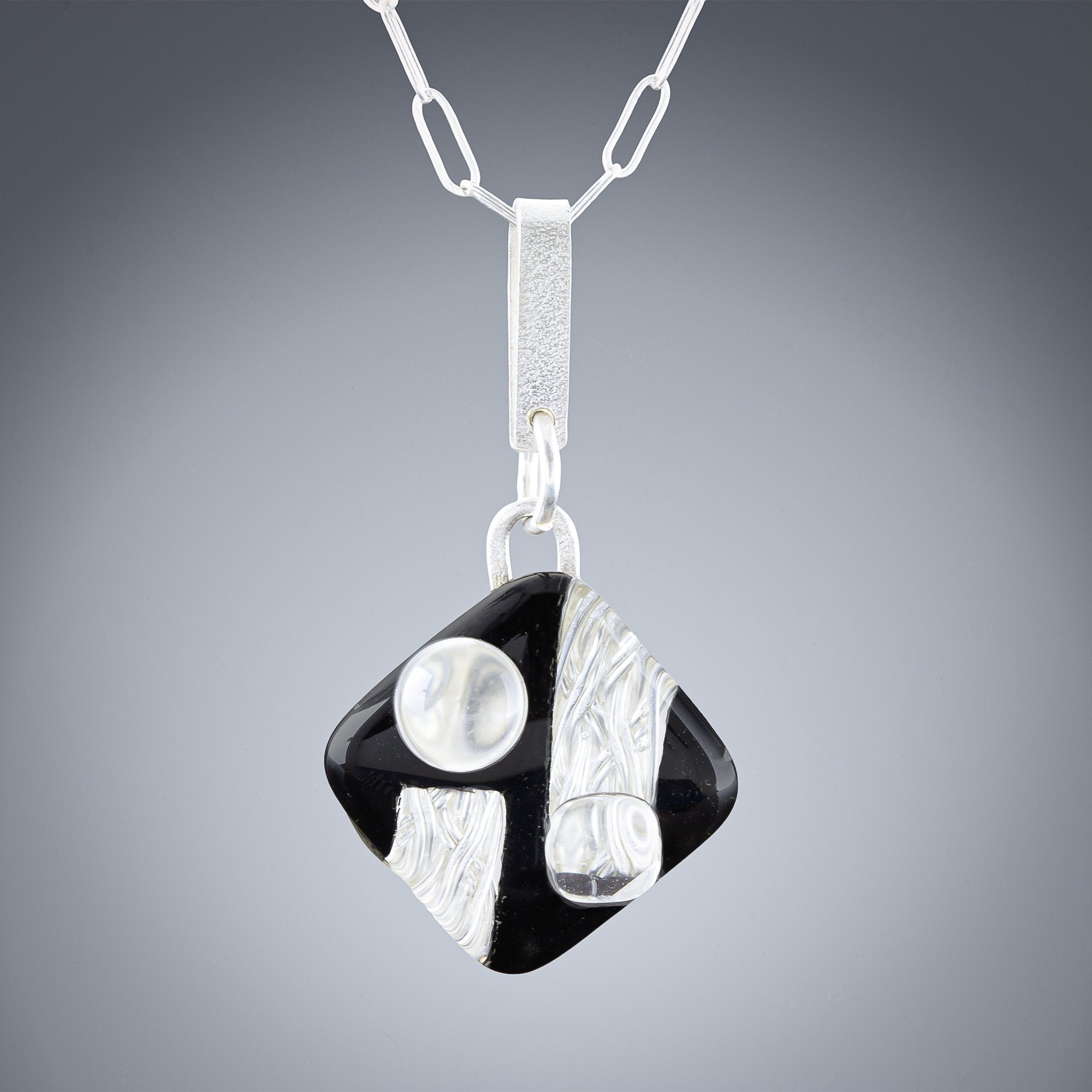 Tahmi - the art of woven metal: Woven Art Deco Handmade Pendant