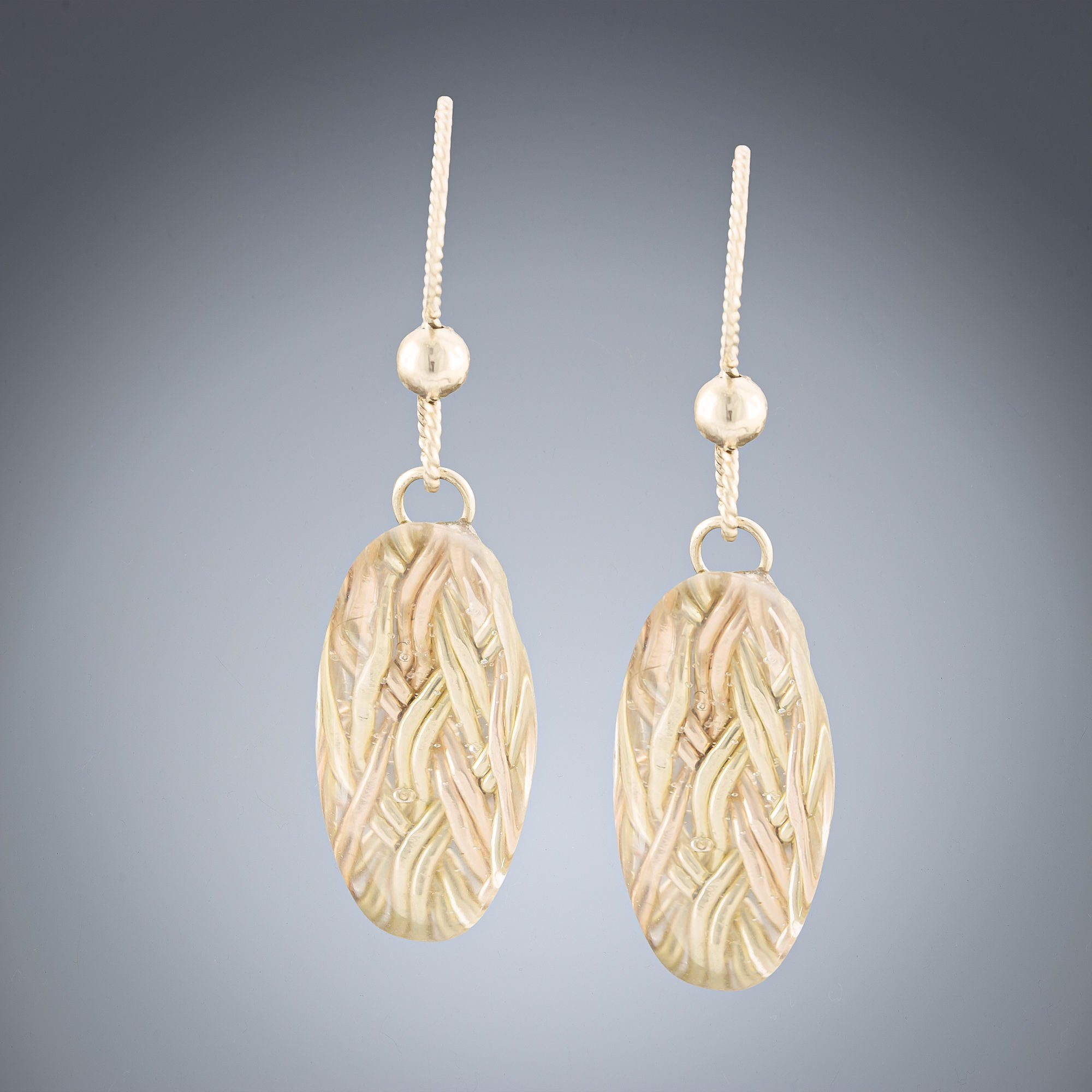 Woven Depths Earrings - Cat Eye - Tahmi