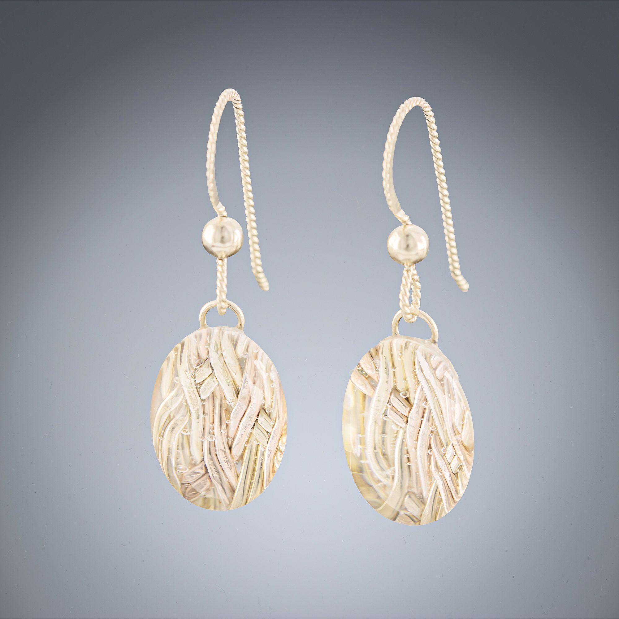 Woven Depths Earrings - Ovals - Tahmi