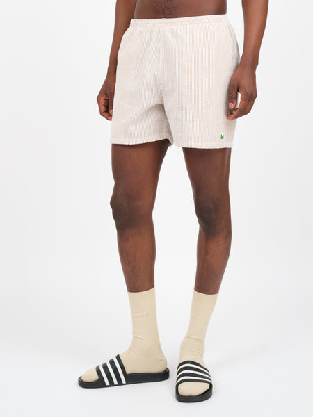 JEFFERY - HYBRID SEERSUCKER TRUNKS - KHAKI