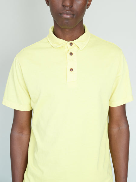 PAXTON  Garment-dye polo - Yellow