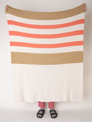 RUGBY BLANKET - orange/khaki