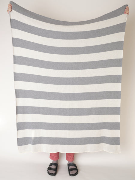 RUGBY BLANKET - grey & cream