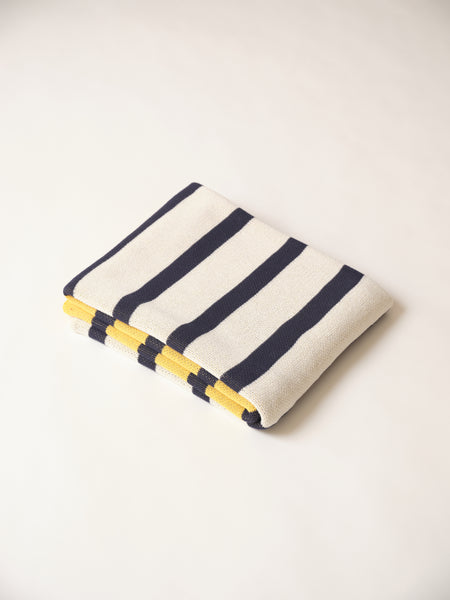 RUGBY BLANKET - yellow & navy