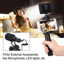 Vlogging Video Grip Stabilizer With Bluetooth Remote Shutter - Phonetographr