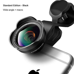 2 In 1 Lens Kit-Wide Angle+Macro Lens - Phonetographr