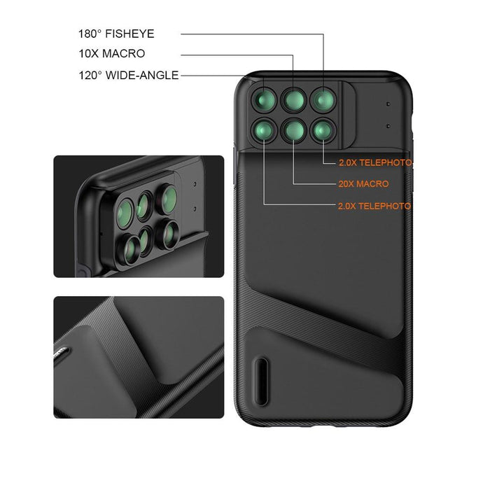 6 in 1 Lens Case For iPhone XS XR XS Max - Phonetographr