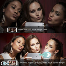 Selfie Ring Light with Wide Angle & Macro Lens for iPhone X/8/ 7/ 7 Plus/ 6S/ 6S Plus - Phonetographr