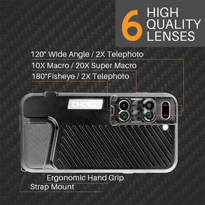 Lens Case For iPhone 7/8 Plus-6 in 1 Kit-Fisheye+Telephoto+Wide Angle+Macro+Super Macro - Phonetographr
