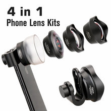 4 in 1 Lens Kit-Marco+Fish Eye+Telephoto+Wide Angle-Universal Clip - Phonetographr