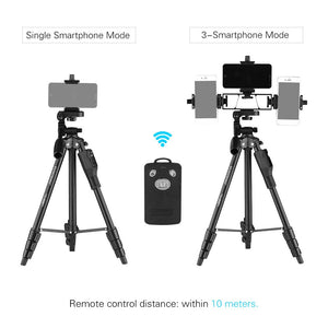 Tripod for Smartphone Live Show w/ Phone Holders And Remote Control - Phonetographr