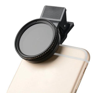 Neutral Density Lens Filter-ND From 2-400-Universal Clip-37mm - Phonetographr