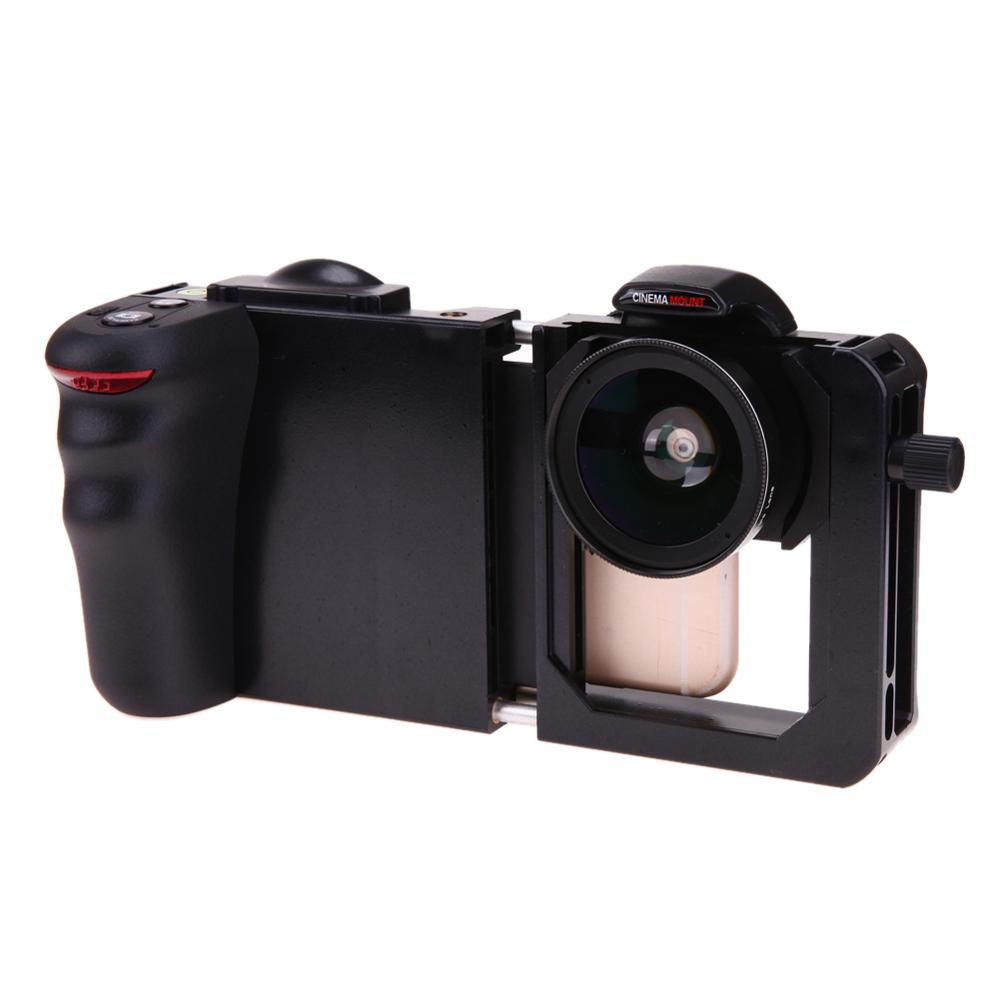 Phone Stabilizer Cinema Mount + Wide Angle Macro Lens