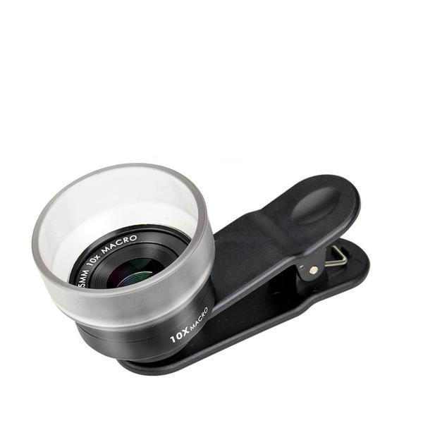 10X Macro Lens With Lens Hood-25mm - Phonetographr