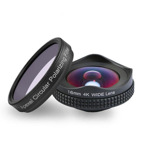 Wide Angle Lens With Circular Polarizing Filter-16mm - Phonetographr