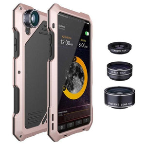 Waterproof 3 in 1 Lens Case for iPhone 7/8/X-Macro+Wide Angle+FishEye - Phonetographr
