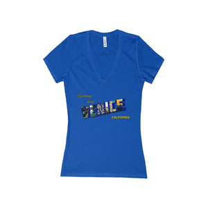 Women's GFV Deep V-Neck Jersey Tee