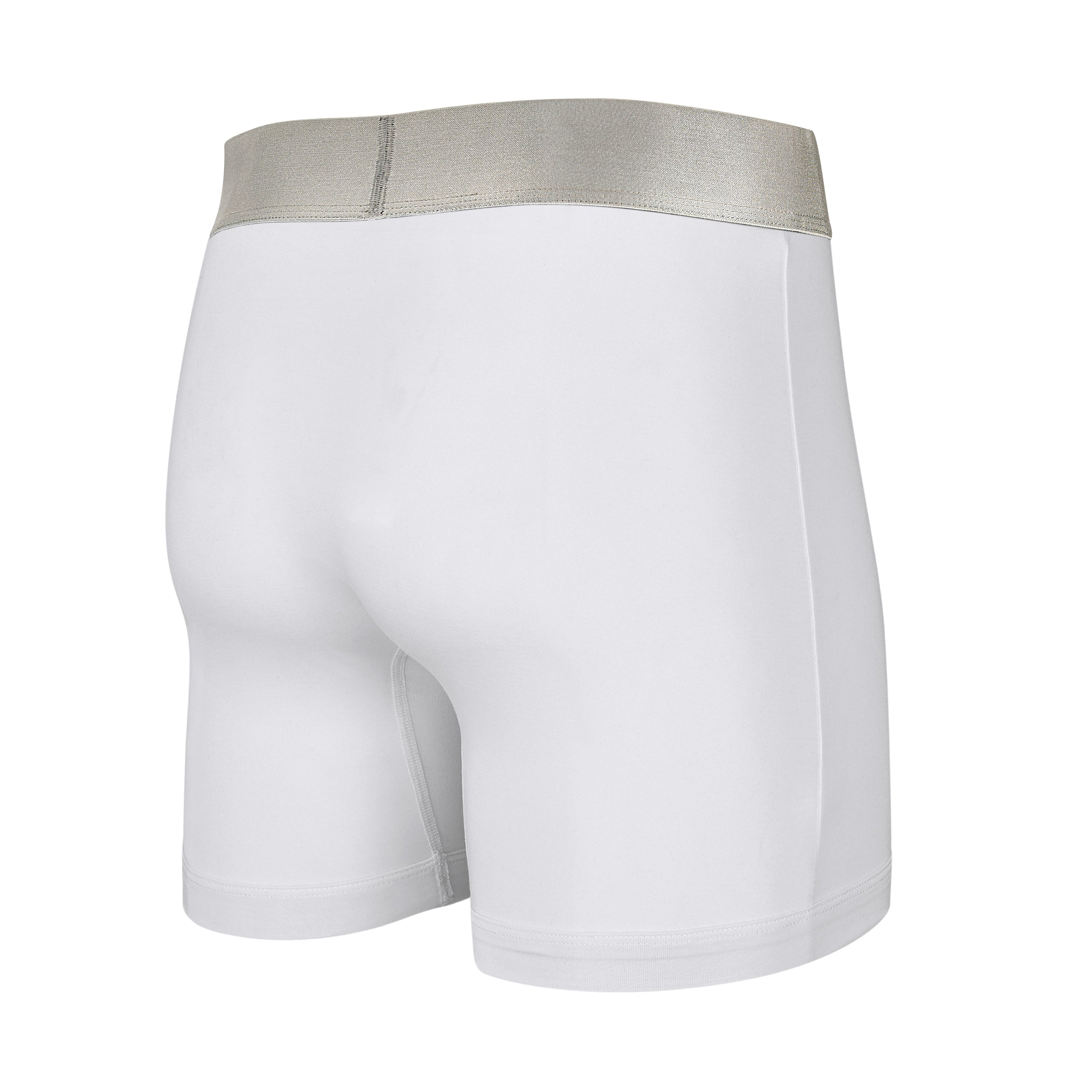 Micro-Modal Boxer Brief Pouch Front  (with Fly Flap) Available in White, Black and Grey
