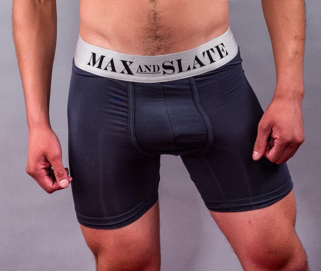 Micro-Modal Boxer Brief Pouch Front   (No Fly Flap)    Available in White, Black and Grey