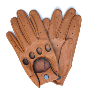 The Retro Brown Driver Gloves - THE BLACK EARS