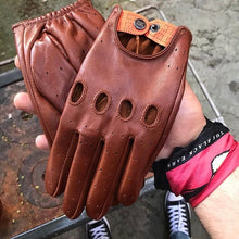 The Retro Browny Driver Gloves - THE BLACK EARS