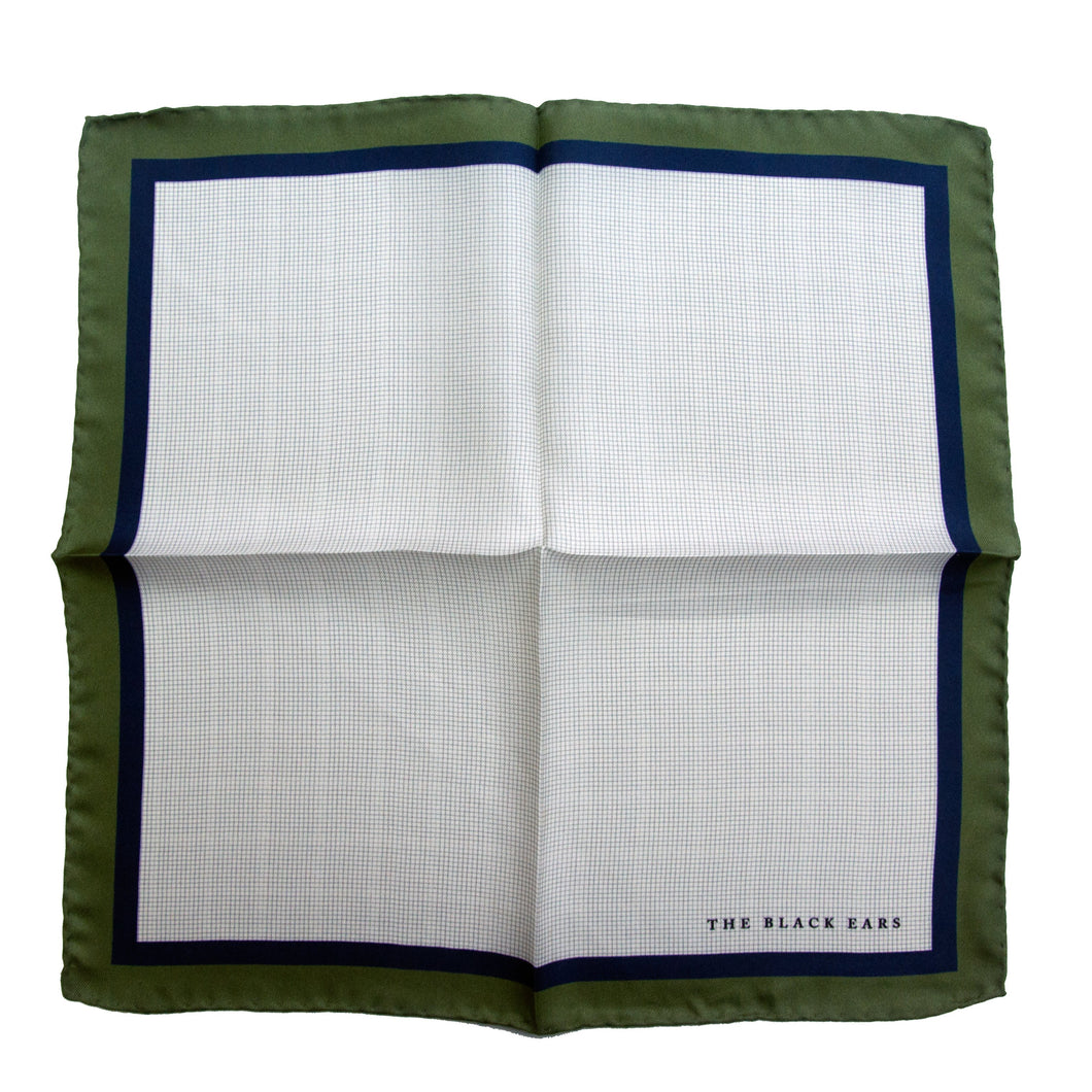 The Classic Style - Green Silk Pocket Square - THE BLACK EARS