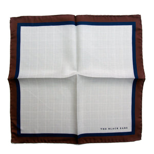 The Classic Style - Brown Silk Pocket Square - THE BLACK EARS