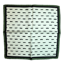 The Gentleman Moustache - Green Silk Pocket Square - THE BLACK EARS